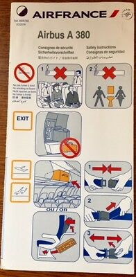 Air France - (Skyteam) - Airbus A380 03/2014 - Safety Card - Consignes