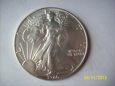 1986 Liberty American Eagle 1oz Fine Silver One Dollar Coin