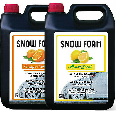 Snow Foam Orange & Lemon Fragrance Car Candy Shampoo High Gloss Ph Neutral 10L