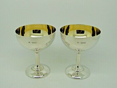 Antique Silver Pair of Goblets Birmingham 1968 – A T Cannon Ltd BOXED