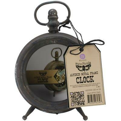 Finnabair Altered Metal Frame - Clock