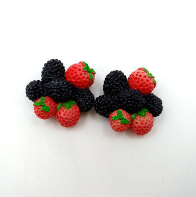 2pcs Strawberry Mulberry Cluster Fruit Wellie Wishers Fit For 18'' American Girl