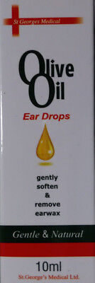 Olive Oil Ear Drops For The Loosening & Removal Of Ear Wax 10 ml