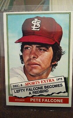 1976 Topps Traded Baseball #524T Pete Falcone Pitcher St. Louis Cardinals NM-MT