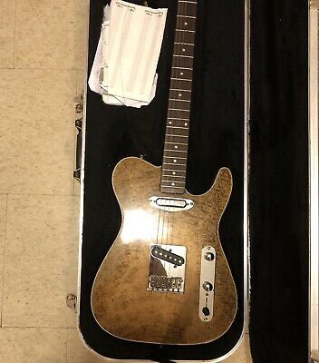 Partscaster/ Telecaster W/ Hard Case. Curly Maple Top & Ash Bottom.