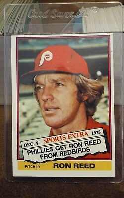 1976 Topps Traded Baseball 58t Ron Reed Pitcher Philadelphia Phillies Nm Mt