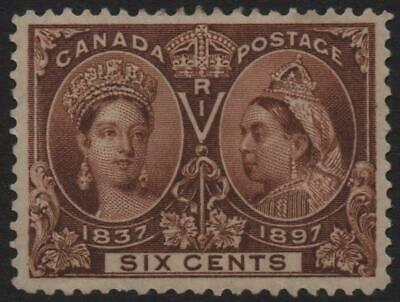 CANADA: 1897 Sg 129 Jubilee 6c Brown Average Mounted Mint - Cat £140 (22222)