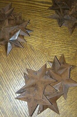 (Set of 10) Rusty Barn Stars 2.25 in 2 1/4 Primitive Country Rust SHIPS FREE!