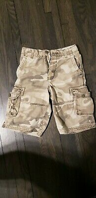 1ace5f631 FADED GLORY BOYS L 10-12 Camo shorts pull on elastic waist cotton ...
