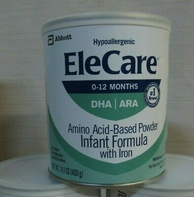 EleCare For Infants (0-12 months) Unflavored Powder with DHA/ARA, 1 Can 14.1OZ