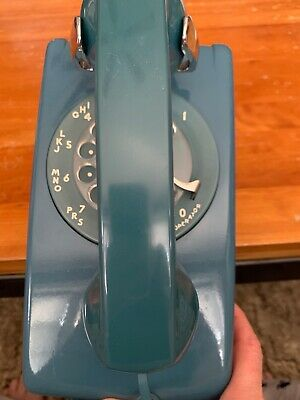 western electric working vintage rotary telephone blue