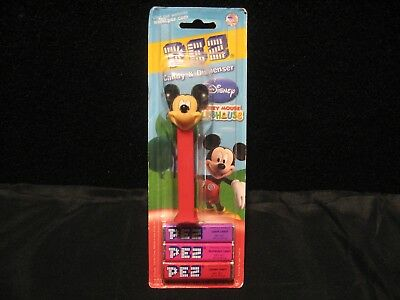 NEW! Disney Mickey Mouse Clubhouse PEZ Candy & Dispenser RARE!