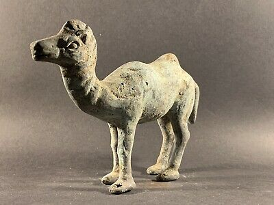 Museum Quality Ancient Bactrian Bronze Camel Statuette -Circa 900Bc-300Ad