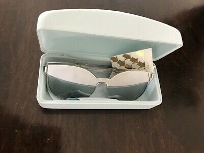 9a9bfd82eda8 NWT in Box Over-sized Authentic Karen Walker Sunglasses STAR SAILOR Silver  Frame