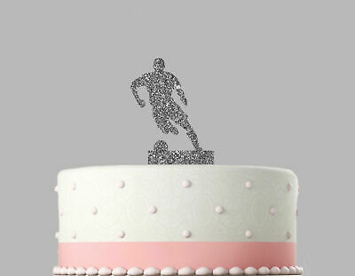 Football Birthday Acrylic Cake Decoration Glitter Topper.23
