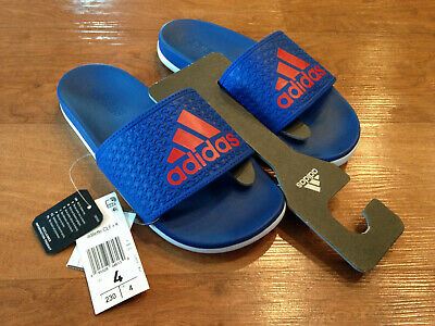 ad85bd09a687 Boy s Adidas Adilette Cloudfoam CLF+ K Slide Childrens Kids Youth Sandals  Size 4