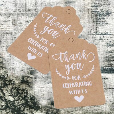 Kraft Paper Label Thank You Label Card Gifts Hanging Tag Wedding Party Favor New