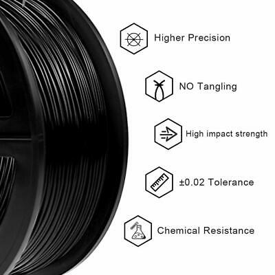 Computers/tablets & Networking Filament 750g Black For 3d Printer High Impact Resistance New Kodak 2.85mm Pla