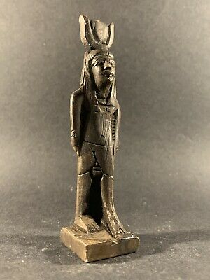 Scarce Circa 732-315Bc Ancient Egyptian Isis God Statue With Hieroglyphics