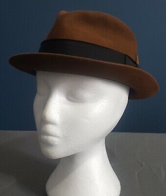 The Playboy II by Stetson, Brown, Size 7 1/8, Mens Vintage 2 VGUC Fedora