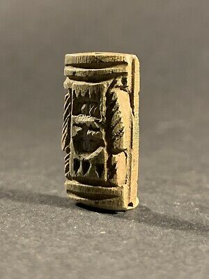 Circa 1075-332Bce - Beautiful Ancient Egyptian Token Amulet With Hieroglyphics