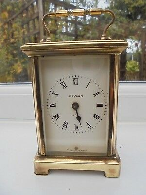 Antique/vintage French Bayard clear cased carriage clock