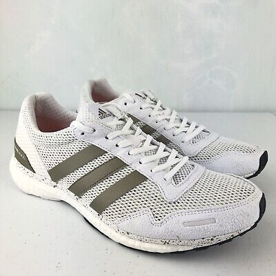 first rate 91128 81445 Adidas Adizero Adios White Running Shoes Womens Sneakers BB6409 NEW Size 9