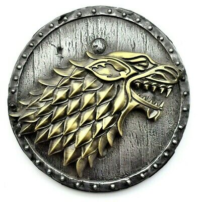Game of thrones Direwolf Houseof Stark on the Shield Iron Brass Wall Home Decor