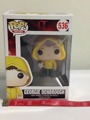 Funko Pop Movies Georgie Denbrough With Boat #536 IT Movie FREE SHIPPING
