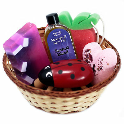 Gift Basket Wild Rose Raspberry Fragrance Bath And Body Womens Care