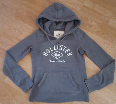Hollister Hoodie Jumper Kangaroo Pocket Mens Grey Size XS
