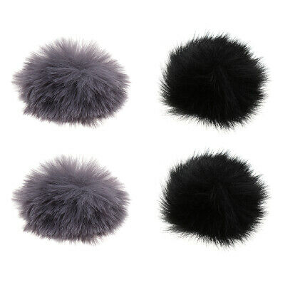 4Pcs Outdoor Furry Microphone Windscreen Muff Musical Instrument Accs