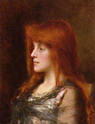 Beautiful Oil painting Alexei Harlamoff - Portrait of a Young Beauty with Blond
