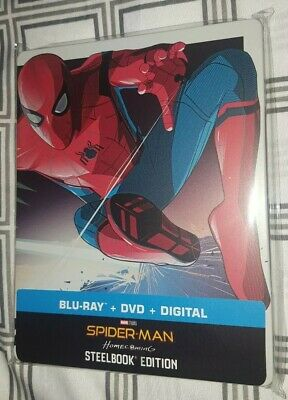 Spider-Man Homecoming - Steelbook Bluray w/ Protective Sleeve Marvel Avengers