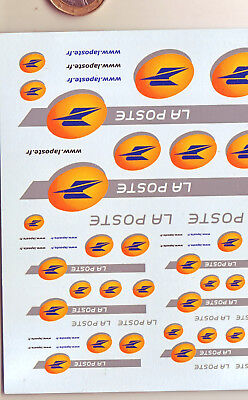 decals decalcomanie deco poste france nouveau dessin  1/43 1/18