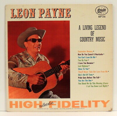 Leon Payne ‎– A Living Legend Of Country Music LP Orig 1963 Starday - SLP 231 EX