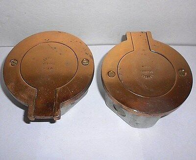 Lowell Heavy Brass Receptacle Floor Outlets