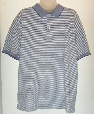 eee3898d20 MENS JOS A Bank Travelers Collection Polo Shirt Blue Stripes XL ...
