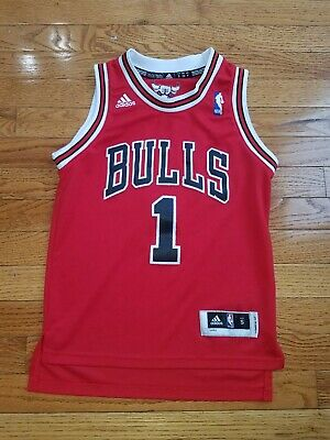 27bf01f74d1 Youth Chicago Bulls Adidas Derrick Rose Jersey NBA Stitched Size S