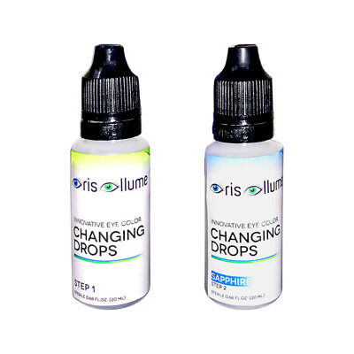 Iris Illume Innovative Eye Color Changing Drops in Sapphire:Now w/ Int'l Shpping