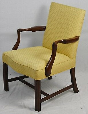Kittinger Chippendale Style Arm Chair Lolling Chair Williamsburg Style