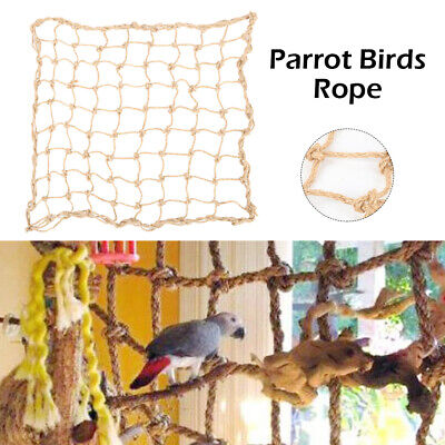 Large Pet Parrot Birds Rope Jungle Swing Climbing Play Ladder Chew Parakeet Toys
