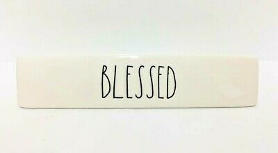 "~Rae Dunn~""BLESSED""~Office/Desk Plaque~NEW~"