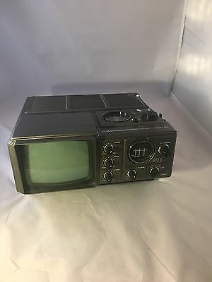 Vtg Maganavox Portable Radio TV Television AM FM Screen Black Model BC3910SL01