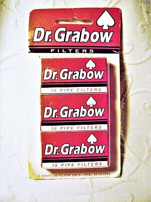 Dr Grabow ® 3 Packs of 10 Pipe Filters For a Total of 30 Pipe Filters NOS USA