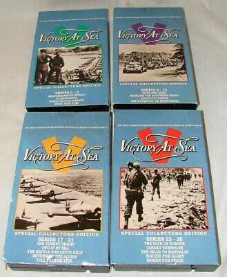 Lot 5 Victory at Sea VHS documentaries Series 1-12 & 17-26 WW II Special Collect