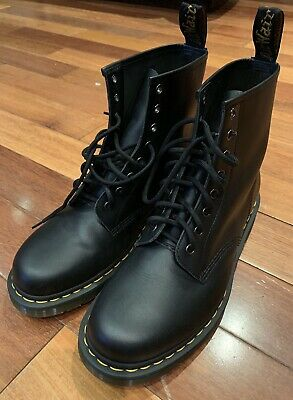e0c72597697 MENS US SIZE 10 Doc Dr Martens 1460 Nappa Black Leather Combat Boot