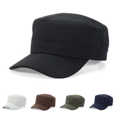 Sunshade Army Mens Plain Flat Back Military Mesh Cadet Baseball Outdoors Cap Hat