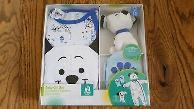 Disney Baby Boys or Girls 101 Dalmations 5 Piece Gift Set Romper 9-12 M NEW