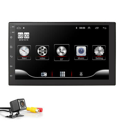 """7"""" 2DIN Car Stereo Radio GPS Android 8.1 NO DVD BT MP5 Player FM WIFI Unit w/Cam"""